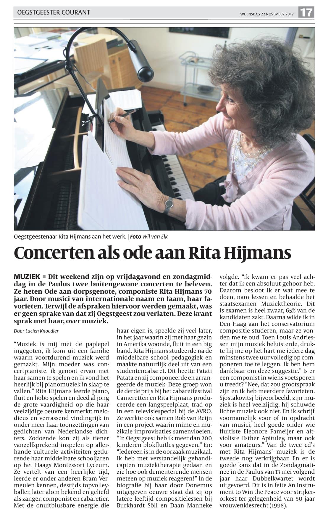 Ode aan Rita Hijmans
