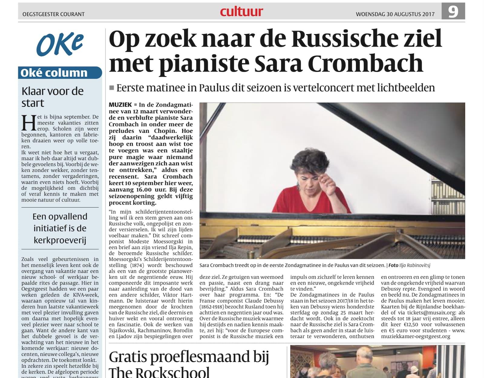 Sara Crombach Artikel 30-08-2017
