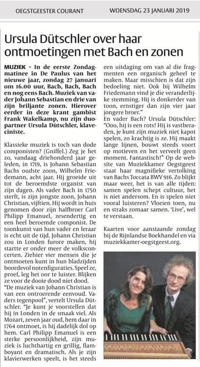 Ursula Dütschler over Bach & zonen
