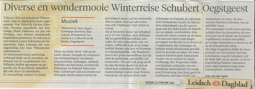 Recensie Leidsch Dagblad 13-2-18