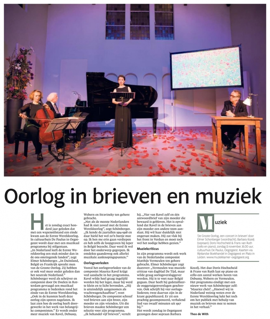 Elmer in Leidsch Dagblad 08-11-2018